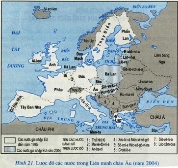 Lược đồ các nước trong Liên minh châu Âu (EU)