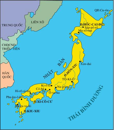 Lược đồ Nhật bản sau chiến tranh thế giới thứ hai