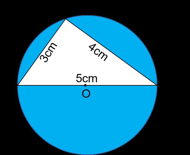 Trong hình dưới đây, hãy tính diện tích phần đã tô màu của hình tròn. -  Hoc24